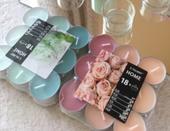 Čajové svíčky - kombinace růžové a mint,