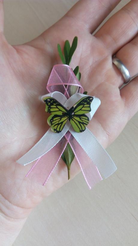 knoflíky motýlci k dekoraci i na vývazky - dřevěný - Obrázek č. 1