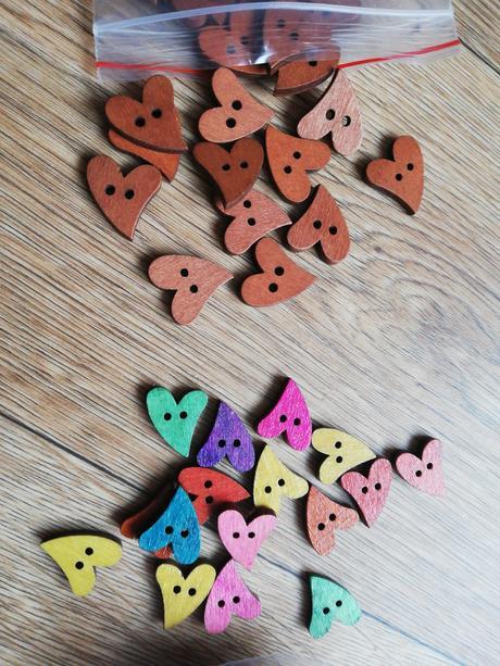 knoflíky srdce dřevěné - Obrázek č. 1