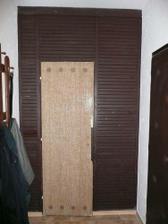 původní strašná stěna do komory