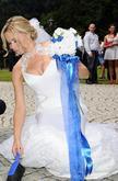 Umělá, svatební kytice v námořnickém stylu. Kytice dělám dle přání na zakázku.