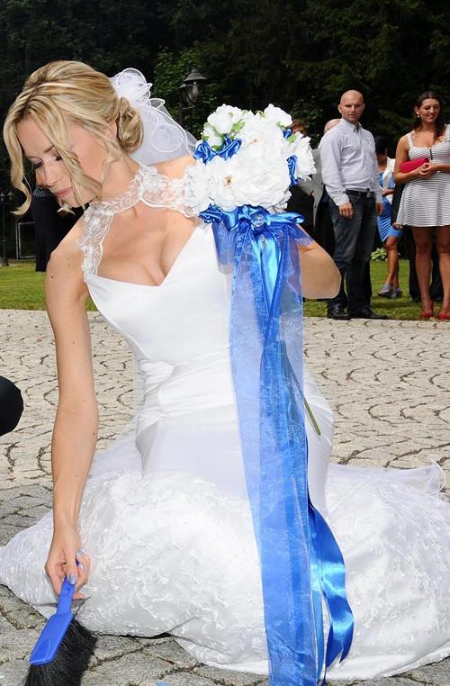 studioleni - Umělá, svatební kytice v námořnickém stylu. Kytice dělám dle přání na zakázku.