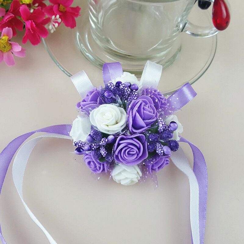 Fialová svatba - Květinový náramek