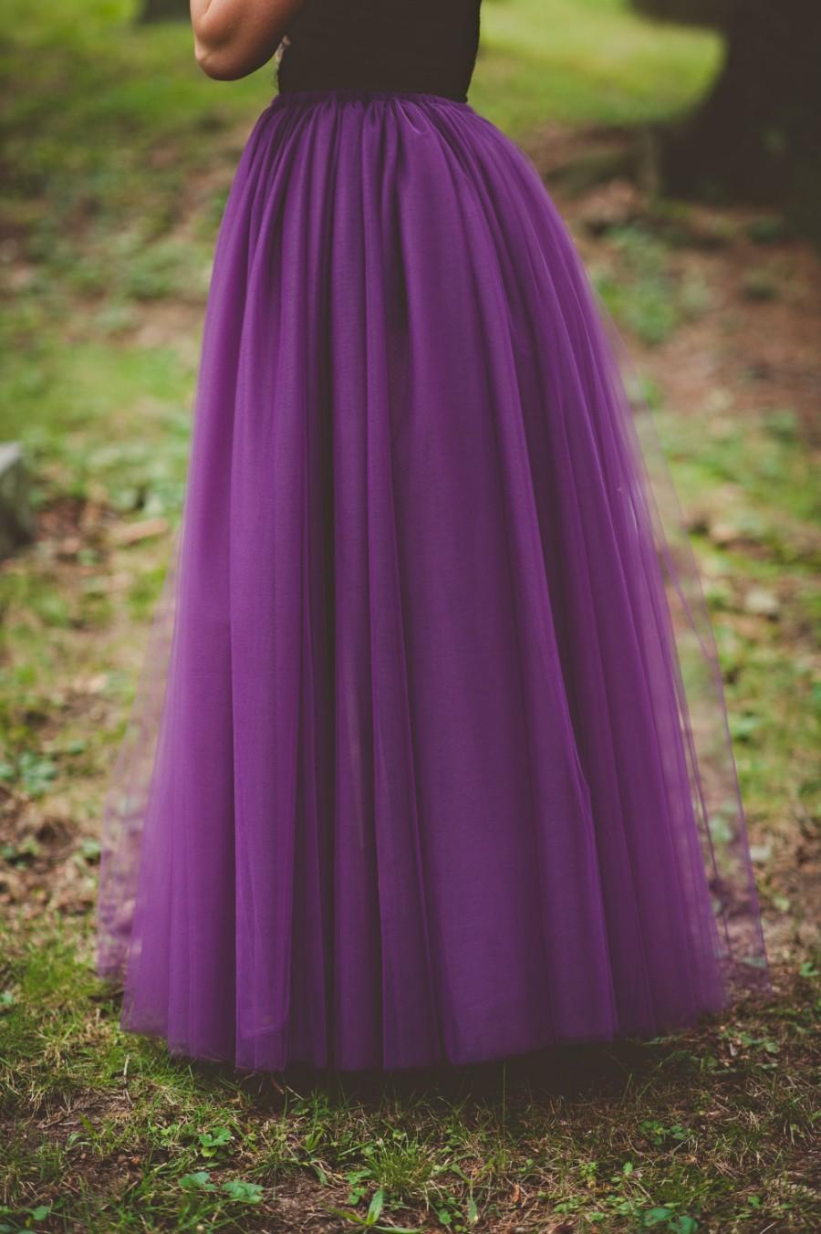 Fialová svatba - Tylová sukně podle přání, na míru
