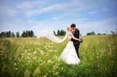 Dlouhý, úzký, bílý, svatební závoj 2m,
