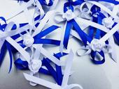 Královky modré vývazky s růžičkou,