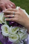 Svatební, umělá kytice, jako živá - na zakázku,