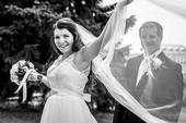 Svatební, dlouhý, bílý závoj - 2 m,