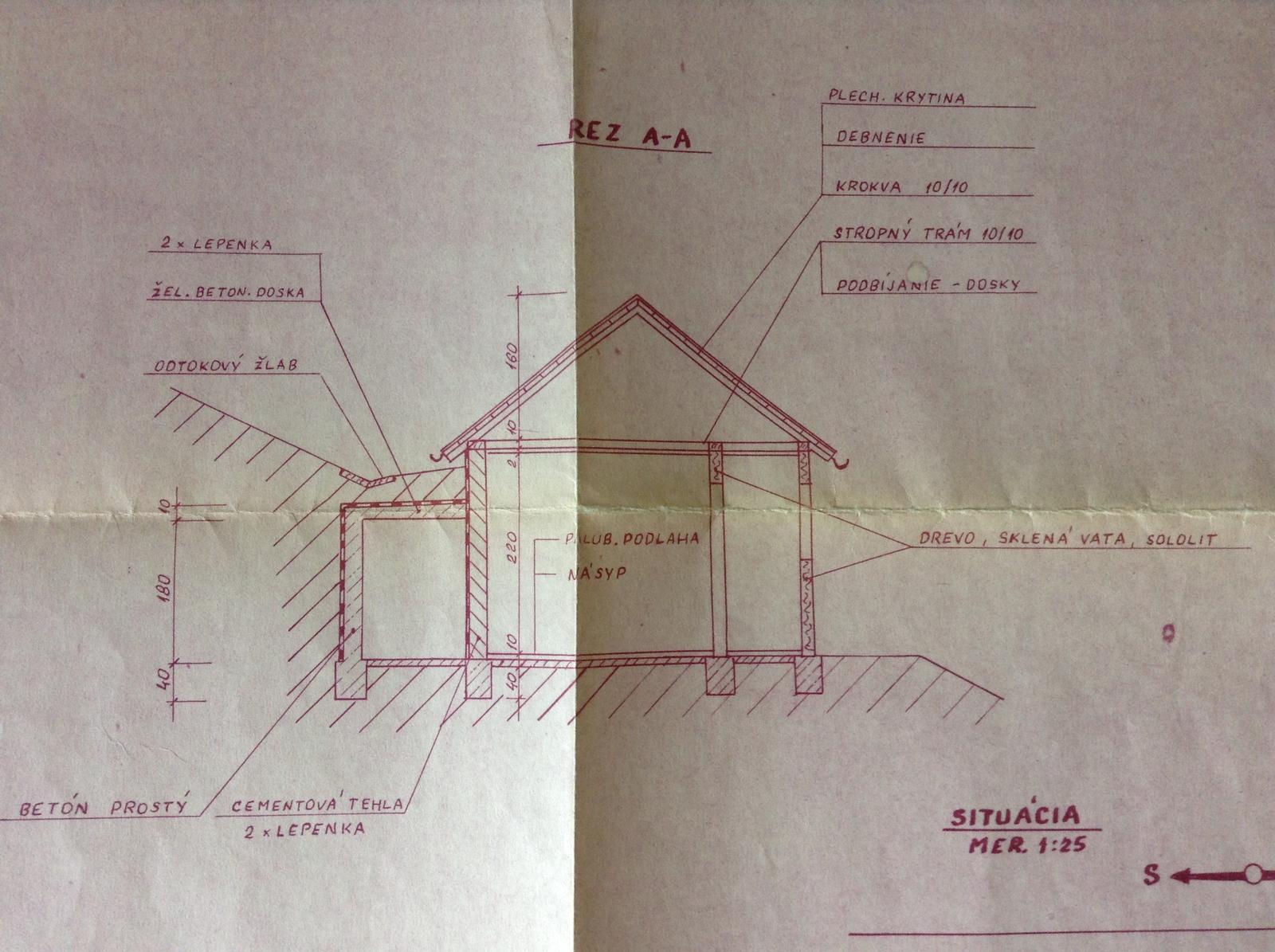 """""""Domček"""" - odtokový žľab neexistuje - ale keďže je na projekte, možno zrealizujeme..."""