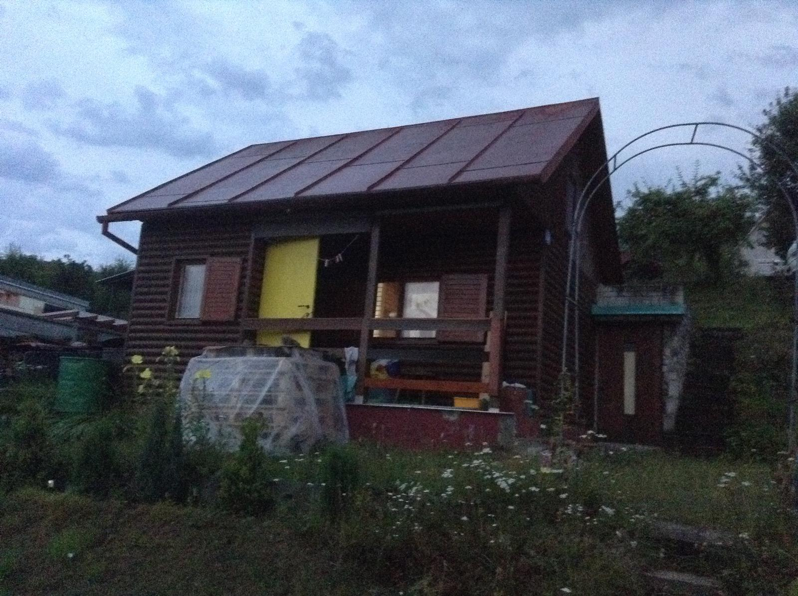 """""""Domček"""" - foto zo včera večera - kedy som tam prvý krát spala :)"""