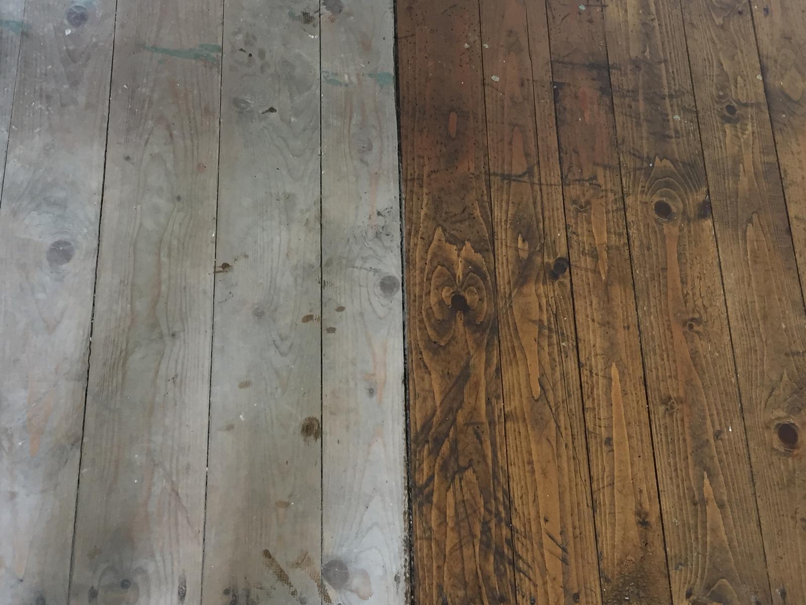 Perníková chalúpka - podlaha pred a po