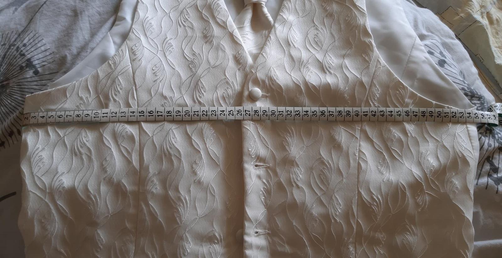 Panska svadobna vesta s kravatou - Obrázok č. 1