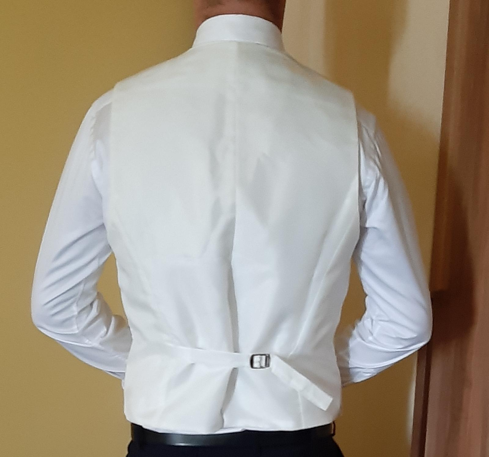 Panska svadobna vesta s kravatou - Obrázok č. 4