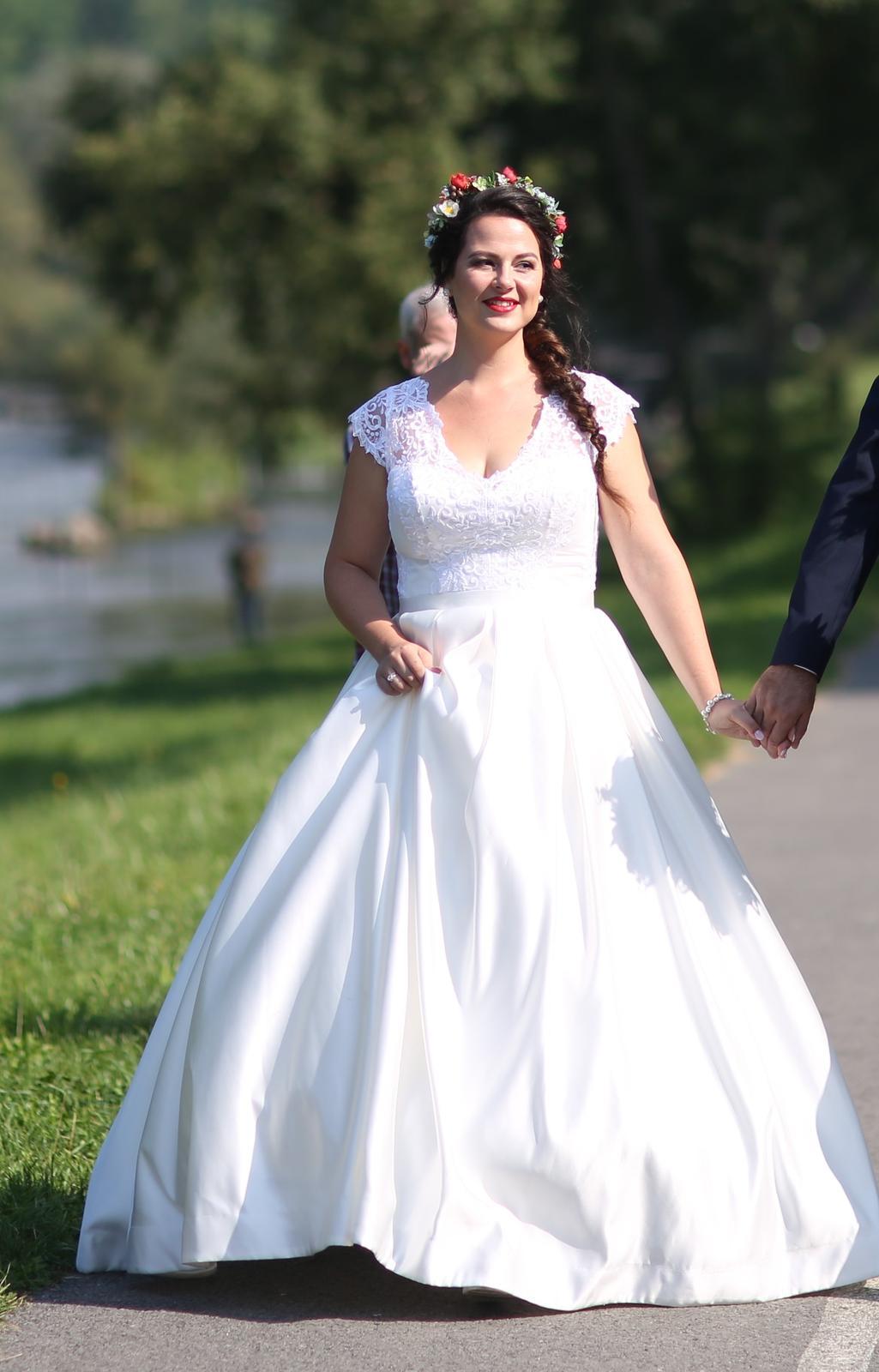 Svadobné šaty veľ. 42 (40-44) - Obrázok č. 1