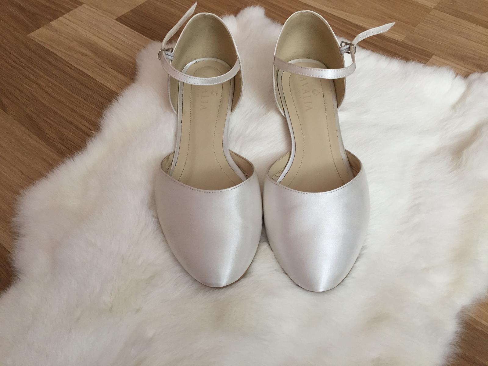 Svadobné topánky, vnútorná dĺžka 25,5cm - Obrázok č. 1