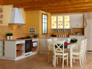 Moja kuchyna, ale samozrejme dvierka- biela krieda, pracovna doska- slivka