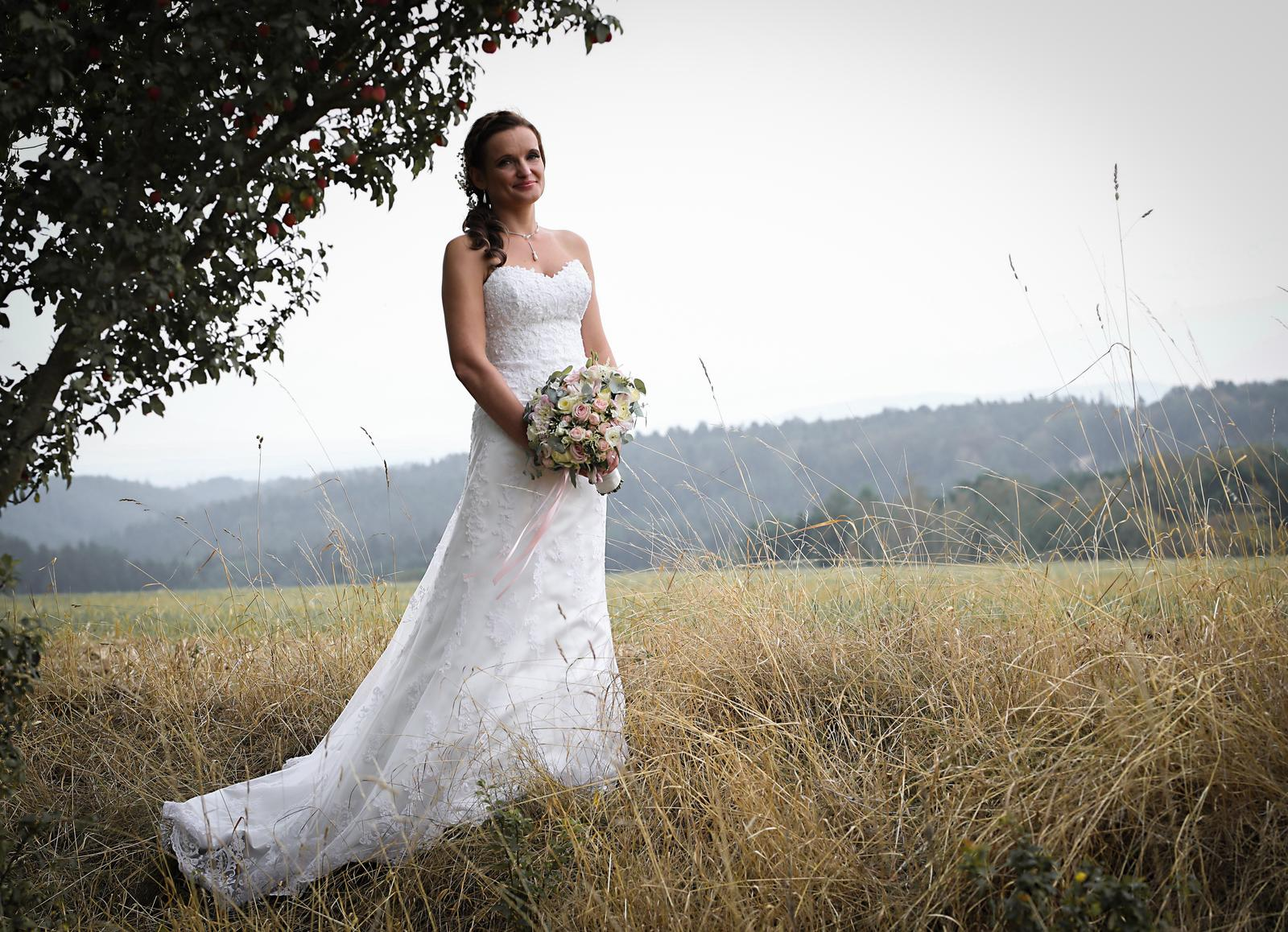 Svatební krajkové šaty s vlečkou Emma - Obrázek č. 1