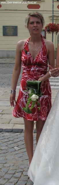 Saténové šaty vhodné pro svědkyni - Obrázek č. 1