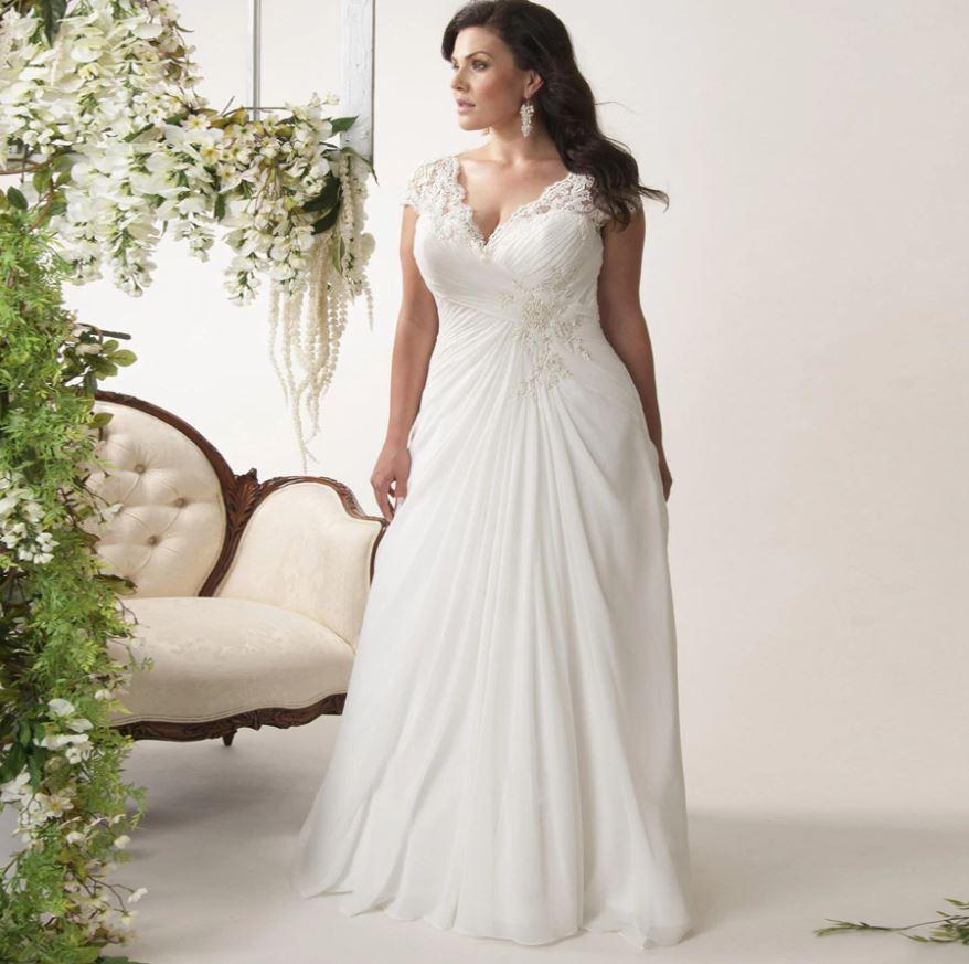 Svatební šaty pro silnější postavu, 44-48 - Obrázek č. 1