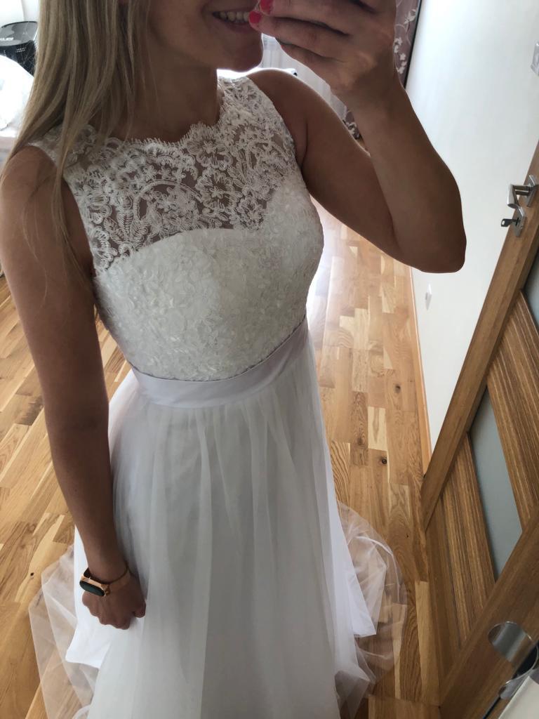 Svatební šaty s úchvatnými zády na šněrování,34-36 - Obrázek č. 1