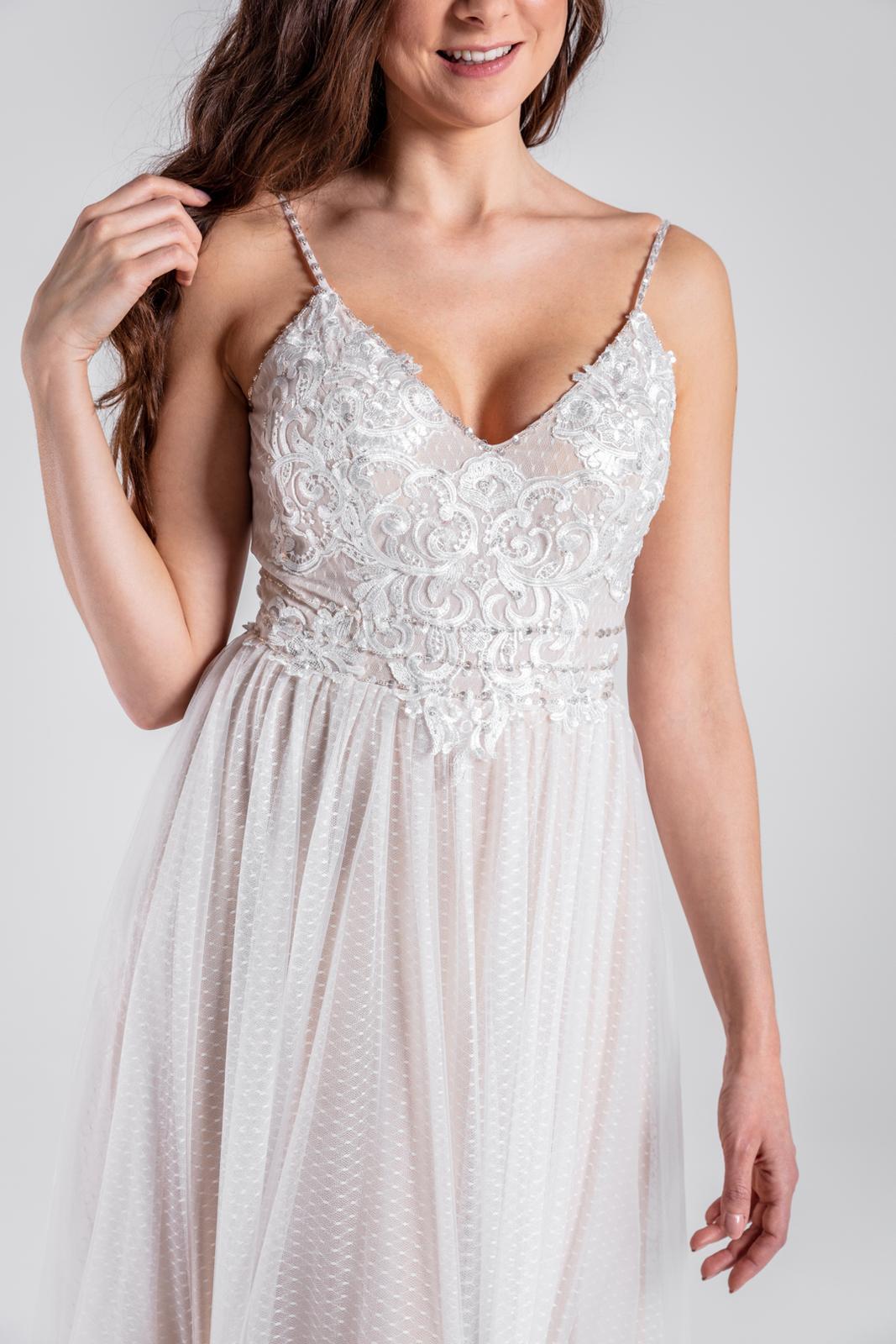 Lehoučké svatební šaty v boho stylu, vel 34-38 - Obrázek č. 1