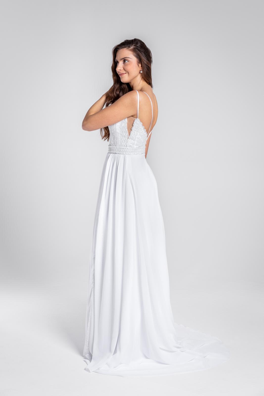 Úžasné svatební šaty s krajkou a rozparkem, 36, 40 - Obrázek č. 3