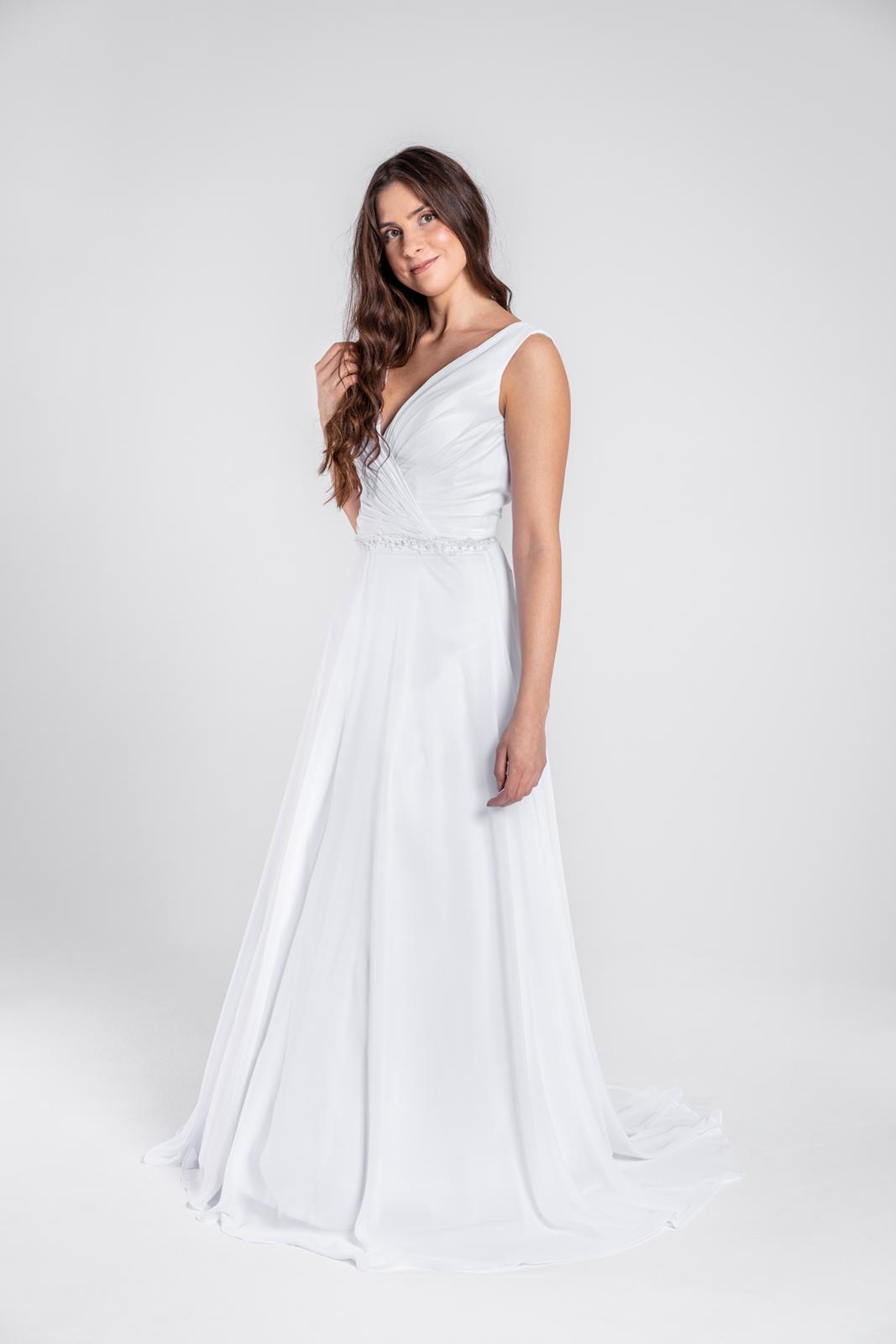 Překrásné jednoduché svatební šaty 36-38 - Obrázek č. 1