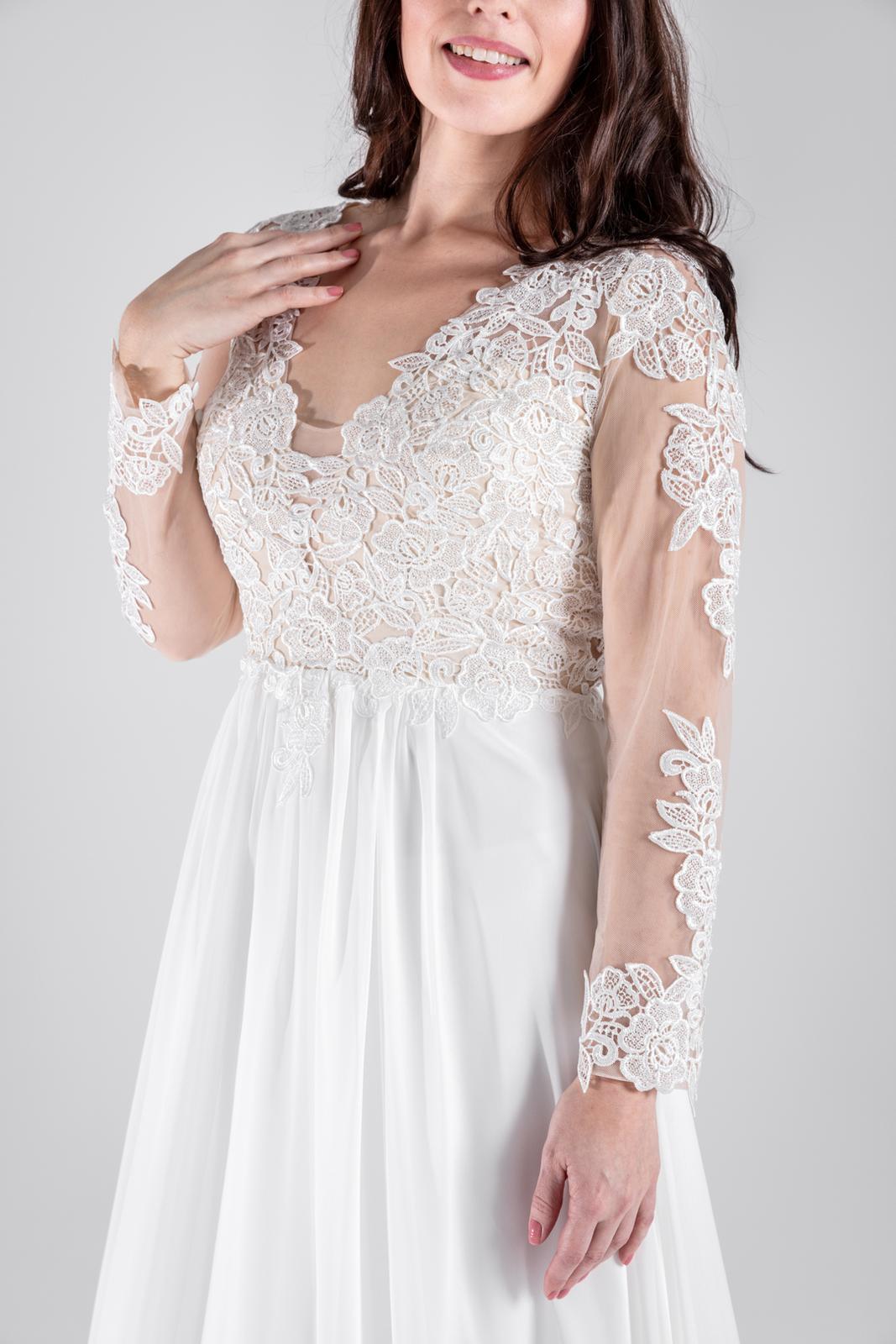 Vílí svatební šaty s dlouhým rukávem, vel 38-46 - Obrázek č. 1
