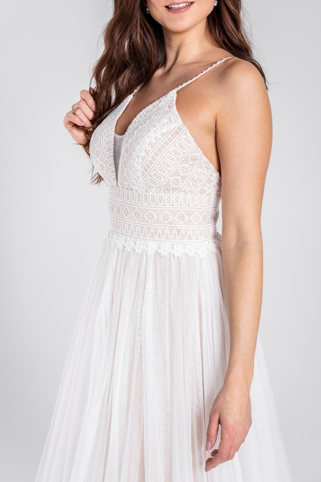 Dokonale svatební šaty v boho stylu 36-42 - Obrázek č. 1