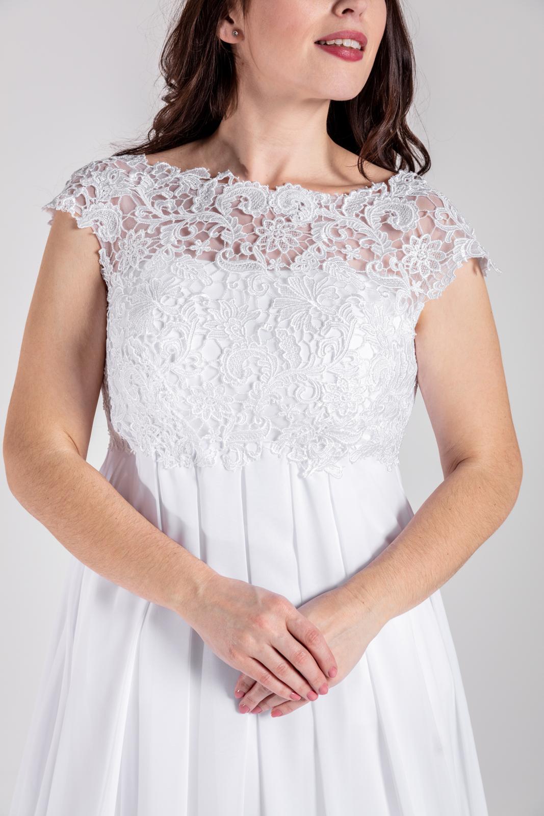 Těhotenské svatební šaty, vel 38-46 - Obrázek č. 1