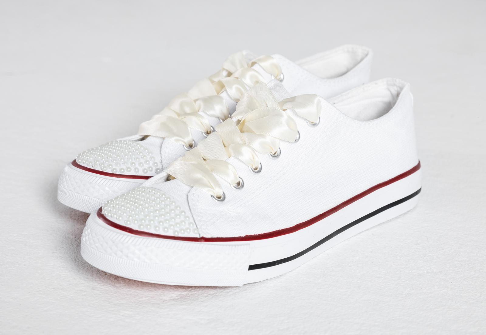 Svatební tenisky / botasky, vel 36-40 - Obrázek č. 1