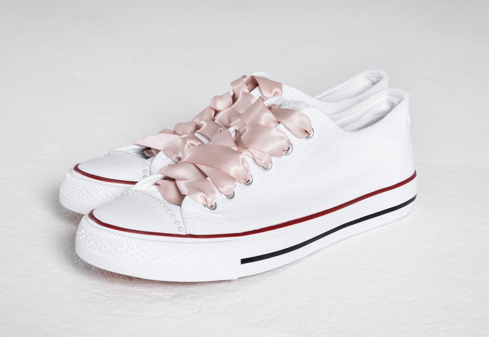 Svatební tenisky / botasky - VEL 36-40 - Obrázek č. 1
