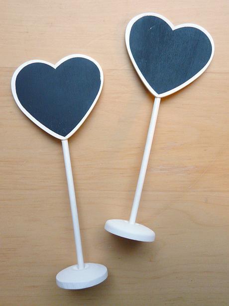 Dřevěné tabulky ve tvaru srdce, 2 ks - Obrázek č. 1