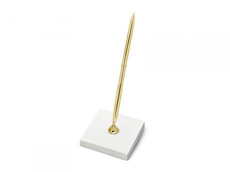 Zlaté pero na podpisy se stojánkem - Obrázek č. 1