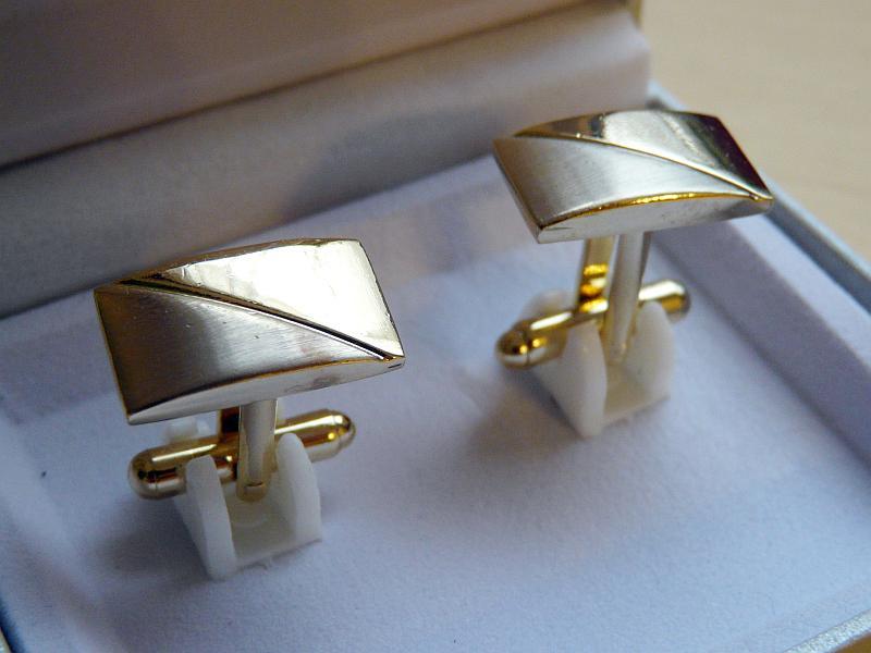 Manžetové knoflíčky v krabičce, 2 kusy (1 pár) - Obrázek č. 3