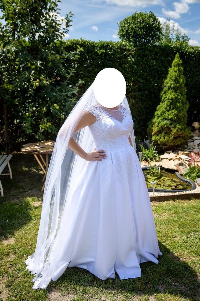 Svadobné šaty - biele - Obrázok č. 3