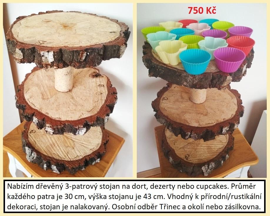 Dřevěné stojany na dort nebo cupcakes - Obrázek č. 1