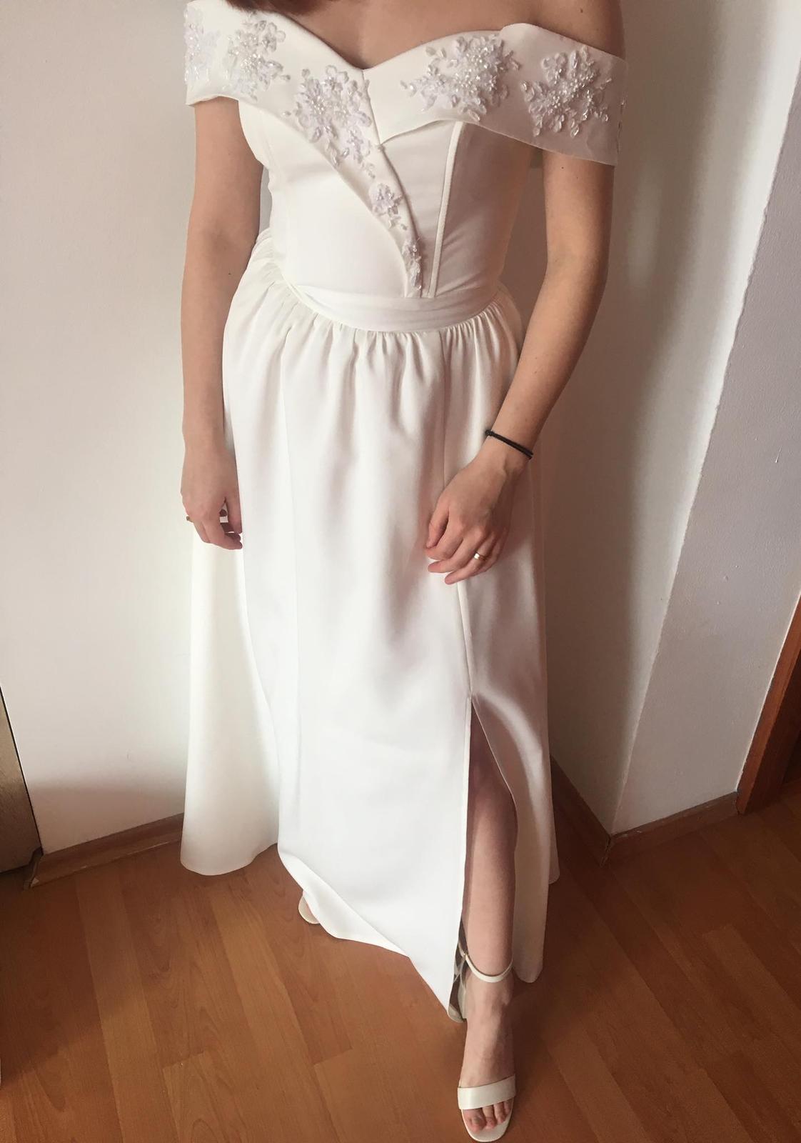 Biele popolnočné šaty - Obrázok č. 3