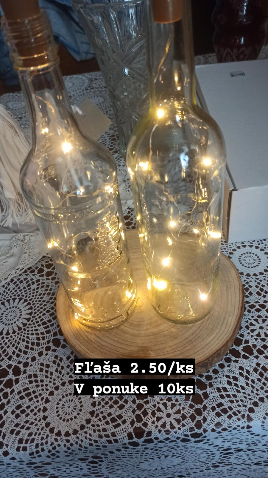 fľaše so svetielkami - Obrázok č. 1