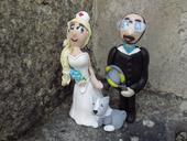 Originální svatební figurky - s pejskem,