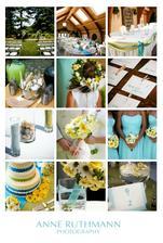 Modro zluta svatba