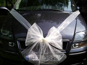 zkouška zdobení ženichova auta
