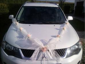šerpa na autíčko nevěsty