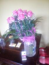 Kytička 12 růži a prstýnek :) Vše jsem dostala pod rozkvetlou třešní 1.5.2015 :)