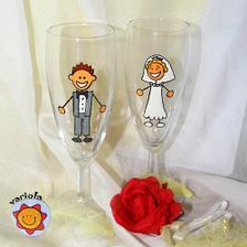 naše svatební skleničky..na zakázku:-)