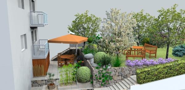 jankobrunko - Návrh malej súkromnej záhrady v radovej zástavbe. Námestovo.