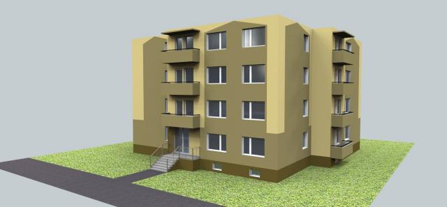 jankobrunko - Návrh fasády bytového domu. Bratislava.