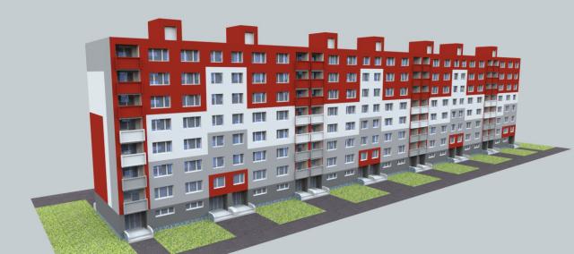 jankobrunko - Vizualizácia návrh fasády bytového domu. Dunajská streda.