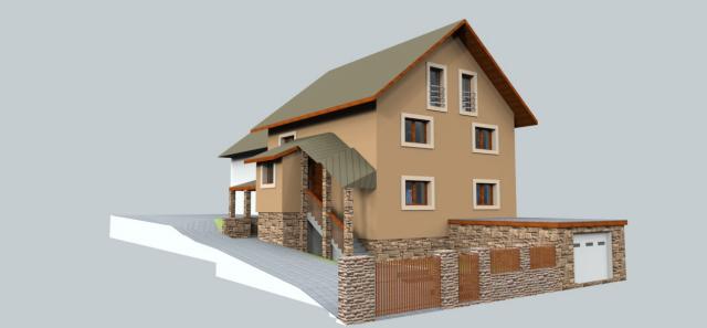 jankobrunko - Jedna z verzií návrhu fasády rodinného domu v Chlebniciach.