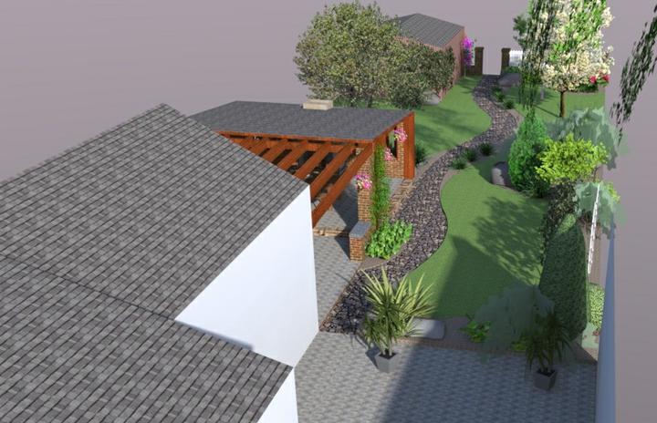 jankobrunko - Návrh záhrady rodinného domu. Trstená.